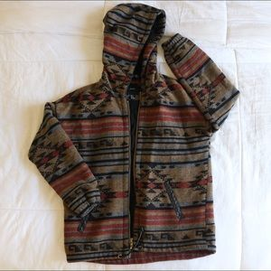 Winter tribal zip up